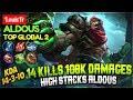 14 Kills 108K Damages  High Stacks Aldous  LouisTr Aldous Mobile Legends