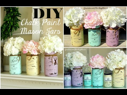 DIY Chalk Paint Mason Jar