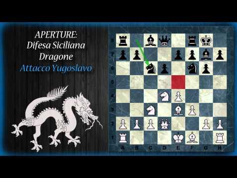 Aperture di Scacchi 12 - Difesa Siciliana - Dragone normale, Accelerato, Iperaccelerato