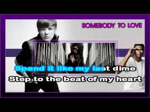 Justin Bieber - Somebody To Love (Karaoke)