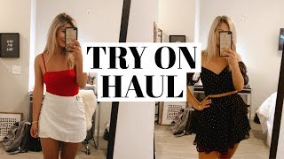 TRY ON CLOTHING HAUL: college, game day, going out