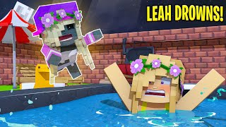 Little Leah is ATTACKED BY HER BEST FRIENDS GHOST... Minecraft