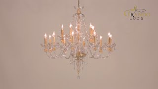 Mirsini Collection Crystal Chandelier Video