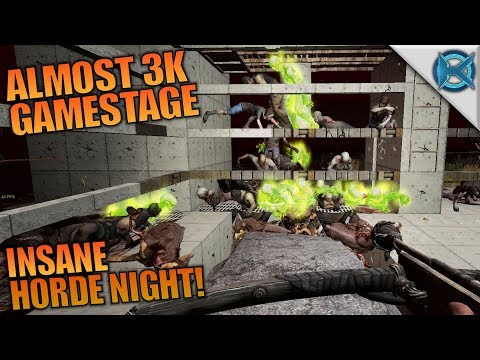 ALMOST 3K GAMESTAGE INSANE HORDE NIGHT! | 7 Days to Die | Let's Play Gameplay Alpha 16 | S16E70
