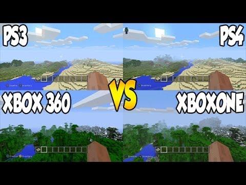 Minecraft xbox1 vs xbox360 amp ps3 vs ps4 screenshot comparison
