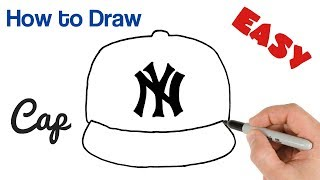 How to Draw a Cap New York Yankees Logo Easy