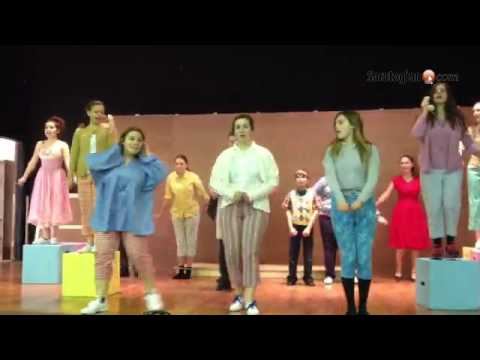 "Saratoga Central Catholic High School cast of ""Bye Bye Birdie"" sings ""Telephone Hour."""