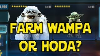 Farm Wampa Or Hermit Yoda? | Star Wars: Galaxy Of Heroes - SWGOH