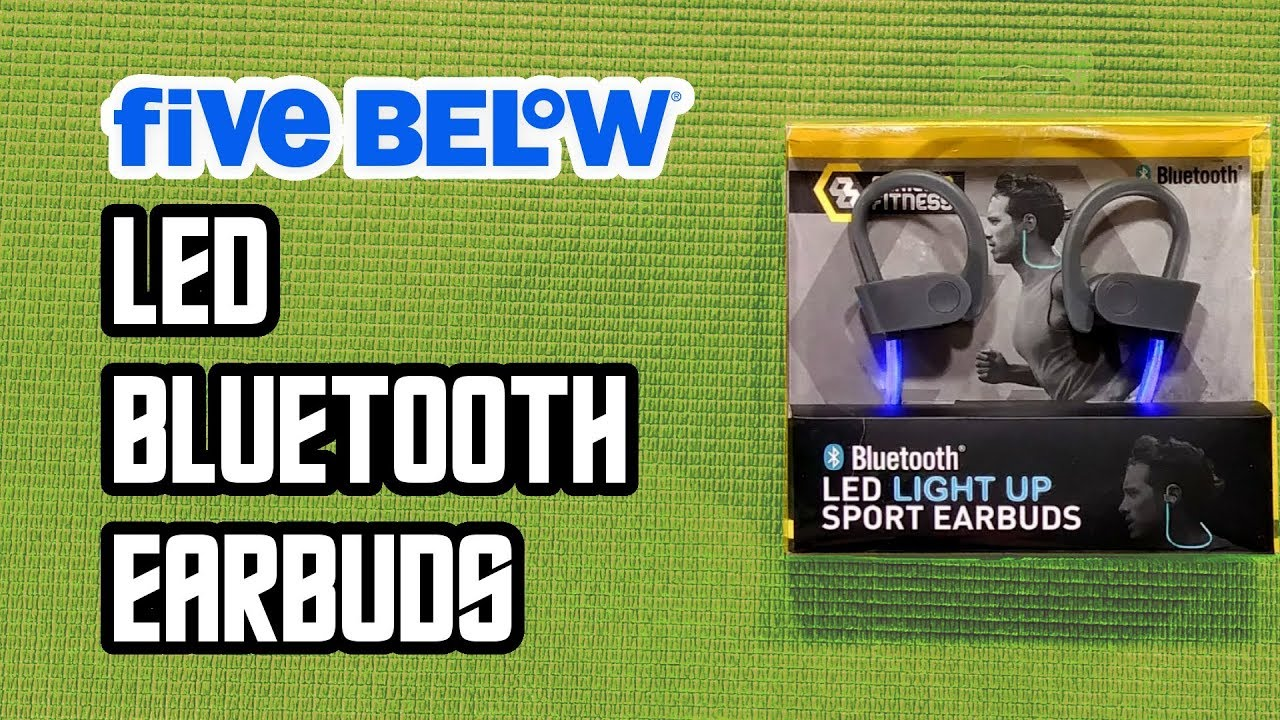 712a5dbcc88 $5 LED Bluetooth Earbuds from Five Below - Budget Buys Ep.12 - YouTube