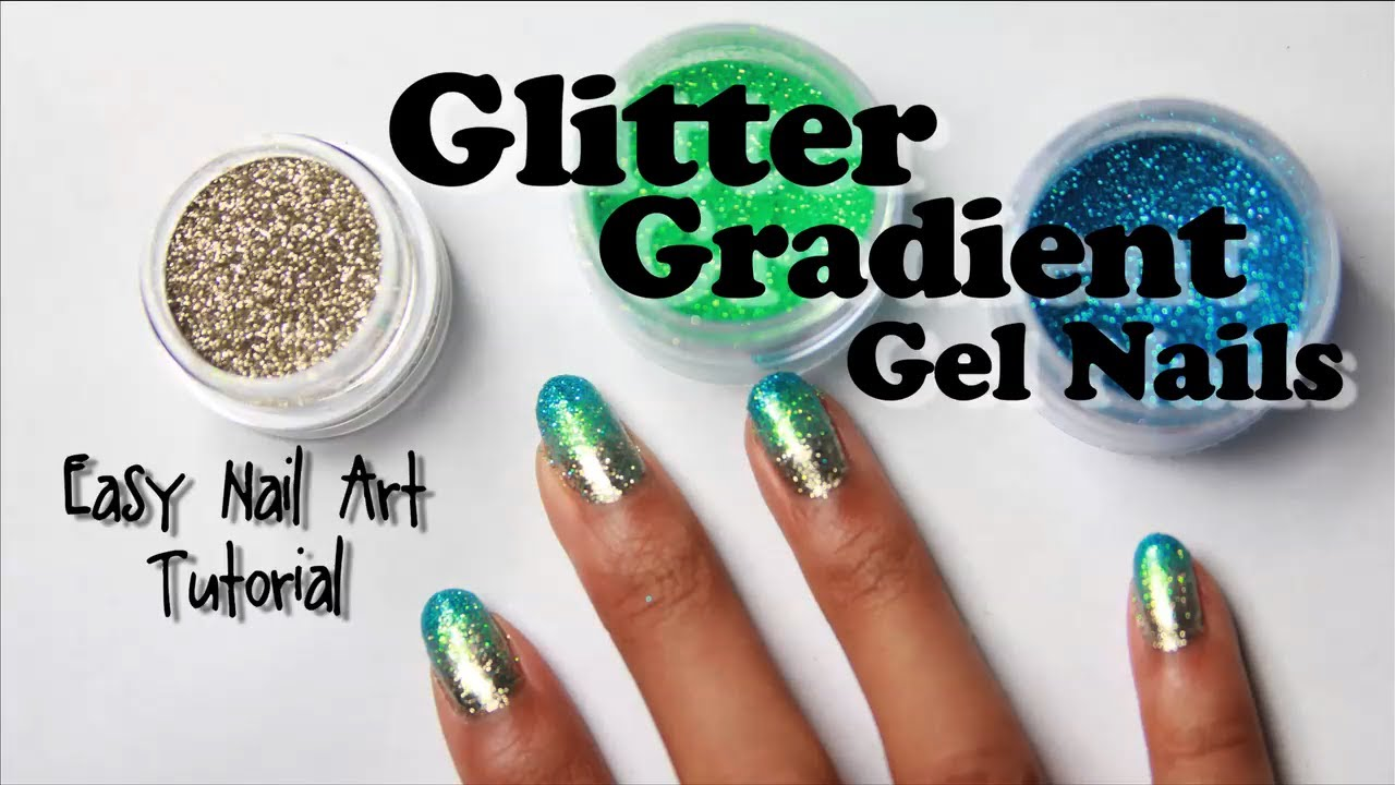 Glitter gradient gel nails with loose glitter easy nail art glitter gradient gel nails with loose glitter easy nail art tutorial youtube solutioingenieria Images