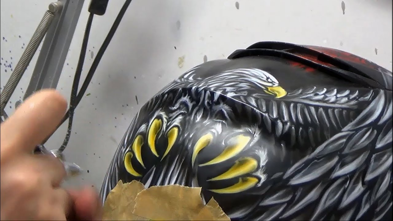 Download Eagle patriotic Shoei Neotec II  motocycle helmet - painting using airbrush