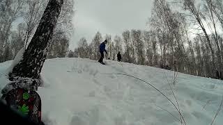 Как я учил новый трюк 180 градусов на сноуборде