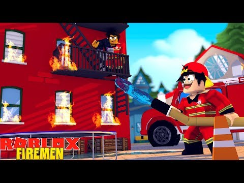 ROBLOX FIREMAN SIMULATOR - DONUT & ROPO BECOME FIREFIGHTERS & SAVE LIVES!!