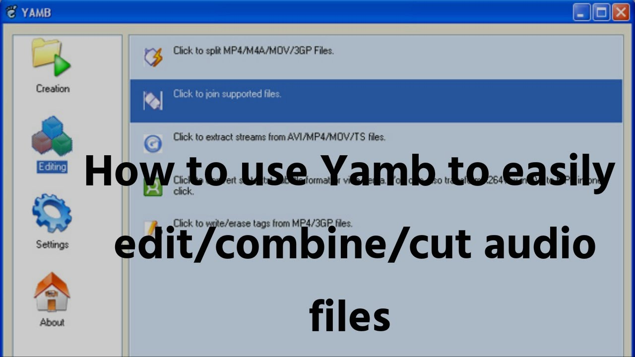 How to use Yamb to easily edit/combine/cut audio files | video tutorial by  TechyV