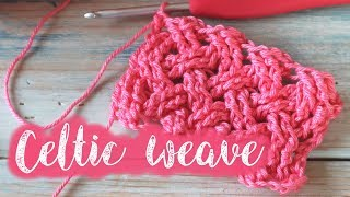 Today I show you how to crochet the Celtic Weave crochet stitch. This stitch is a more advanced stitch and will require some knowledge of the treble crochet front ...