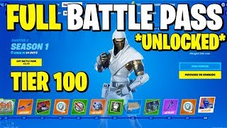 FORTNITE CHAPTER 2 SEASON 1 BATTLE PASS UNLOCKED (ALL SKINS & COSMETICS FOR SEASON 1)