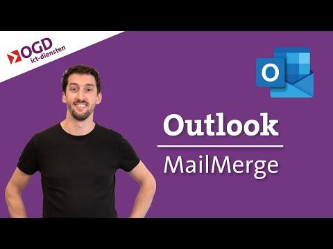 #24 Outlook Tips - Gepersonaliseerde Mail Versturen Met MailMerge -  Office365