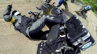 2 BMW F800GS an HP2 a Ford Focus and mystery couple in the woods