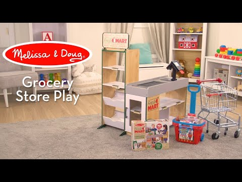 Melissa & Doug Fresh Mart Grocery Store | Pretend Play Promotes Language & Social Development