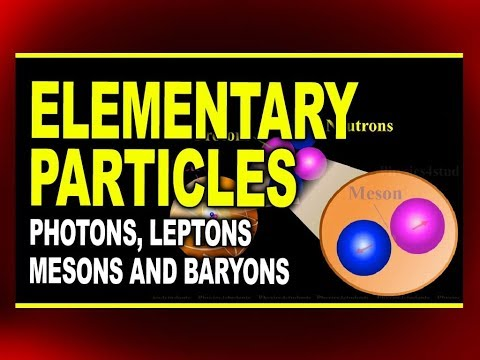 Types of Elementary Particles | Photons, Leptons, Mesons and Baryons | Physics4students