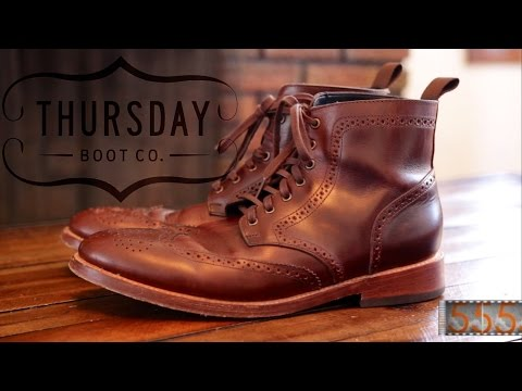 "Review: Thursday Boot Co. Brown Wingtip 6"" Men's Dress Boots"