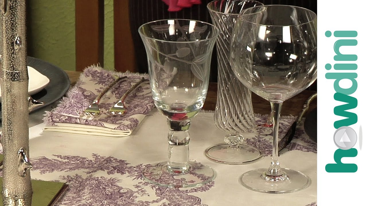 Formal table setting - How to set a table - YouTube