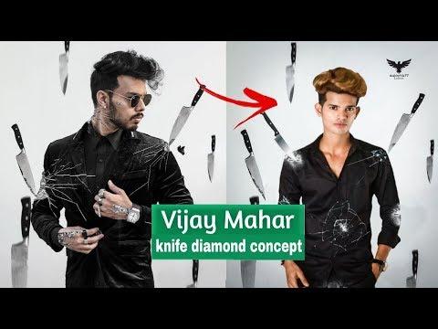 Vijay Mahar New Diamond Photo Editing Tutorial | Vijay Mahar New Concept Editing thumbnail