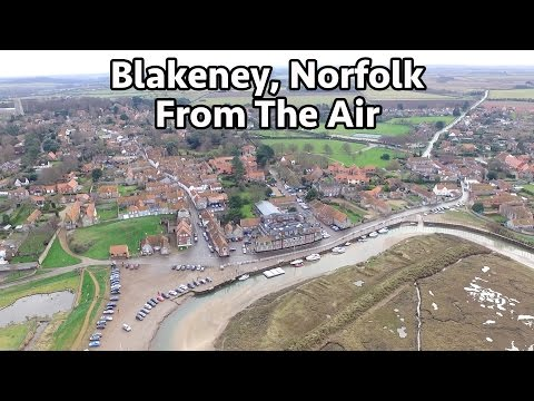 Blakeney Quay & Point From The Air - North Norfolk - Drone DJI Phantom