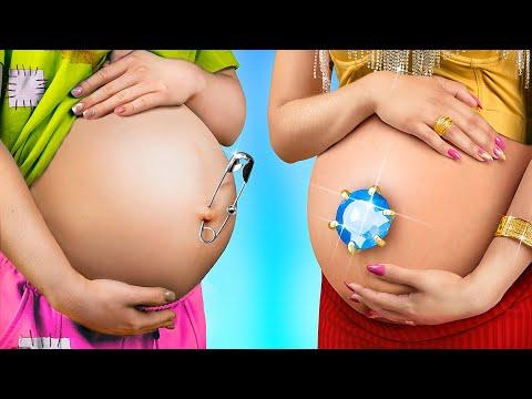 Super Rich Pregnant vs Poor Pregnant