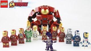 Lego Avengers (Vingadores) Homem de Ferro - Todas as Armaduras