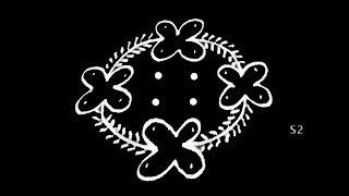 Easy & simple rangoli with 6 to 2 dots * creative rangoli designs * latest muggulu designs with dots