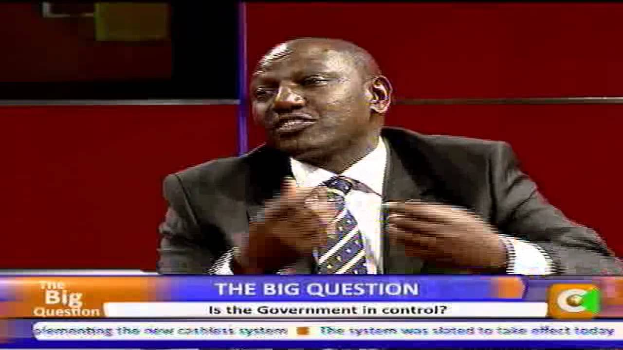 The Big Question with Deputy President William Ruto Part 2