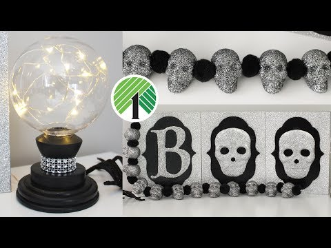 DOLLAR TREE DIY HALLOWEEN GLAM DECOR | Halloween 2019 Decor