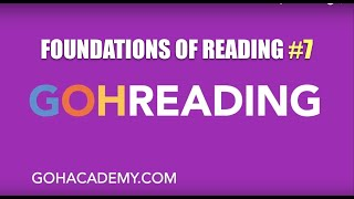 GOHREADING ~ #7 Foundations of Reading 090 MTEL Practice Test ~ GOHACADEMY.COM