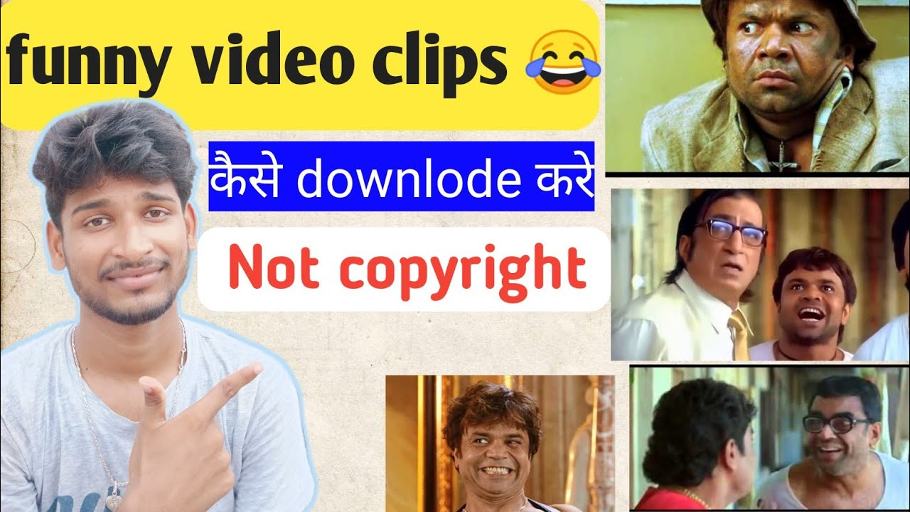 Download How to download no copyright  funny video clips for rost video l comedy clips download