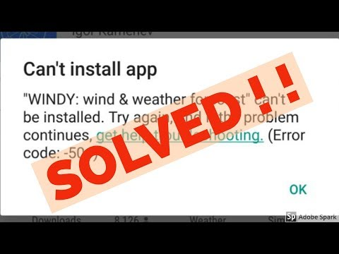 How to fix can't install app error code 504/505 in google play store