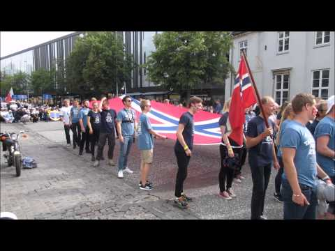 Crew Parade Tall Ships Races Aalborg 2015 - Full parade