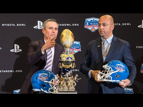 Chris Petersen, James Franklin break down their opponents in Washington-Penn State Fiesta Bowl...