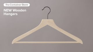 The Container Store: Exclusive Wooden Hangers