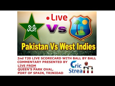 LIVE: PAKISTAN VS WEST INDIES 2ND T20 SCORECARD STREAMING WITH BALL BY BALL COMMENTARY