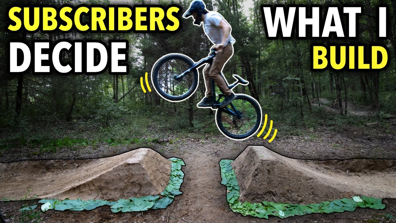 Building a New Gap Jump and Berm on our Backyard MTB Trail! // Choose Your Own Trail Part 3