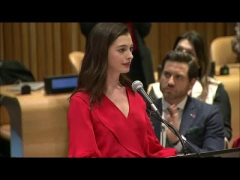 Anne Hathaway on International Women's Day