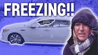HOW TO STAY WARM LIVING IN A CAR IN THE WINTER | Travel Snacks