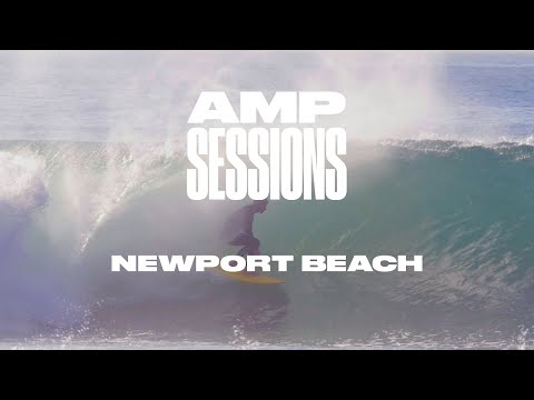 Joel Tudor and Local Crew Tap into Hurricane Rosa in Newport | Amp Sessions  | SURFER