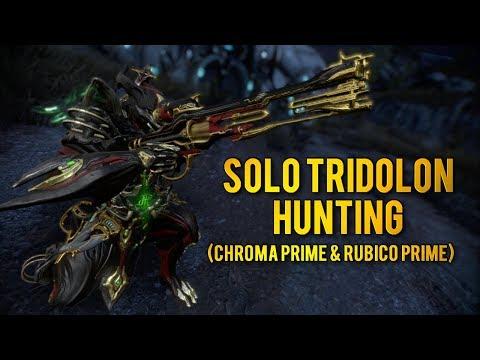Warframe: TRIDOLON HUNTING WITH CHROMA PRIME & RUBICO PRIME