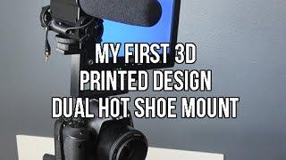 My First 3d Modeling Design   123d Design   3d Printed Dual Hot Shoe Mount