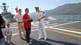 "PLA Navy Type 054A frigate ""Weifang"" in Lora Naval Base, Split"