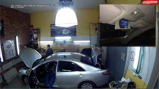 Обзор и установка 2 камеры + дисплей+монопод в Toyota Camry