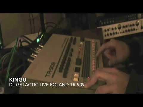 "DJ Galactic - ""Kingu"" live on Roland TR-909"