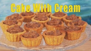 Vegan Cake With Cream / Recipe / Корзинки со сгущенкой